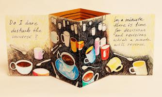 Ritual: Prufrock, Coffee & Mazes, artist's book by Lesley Mitchell
